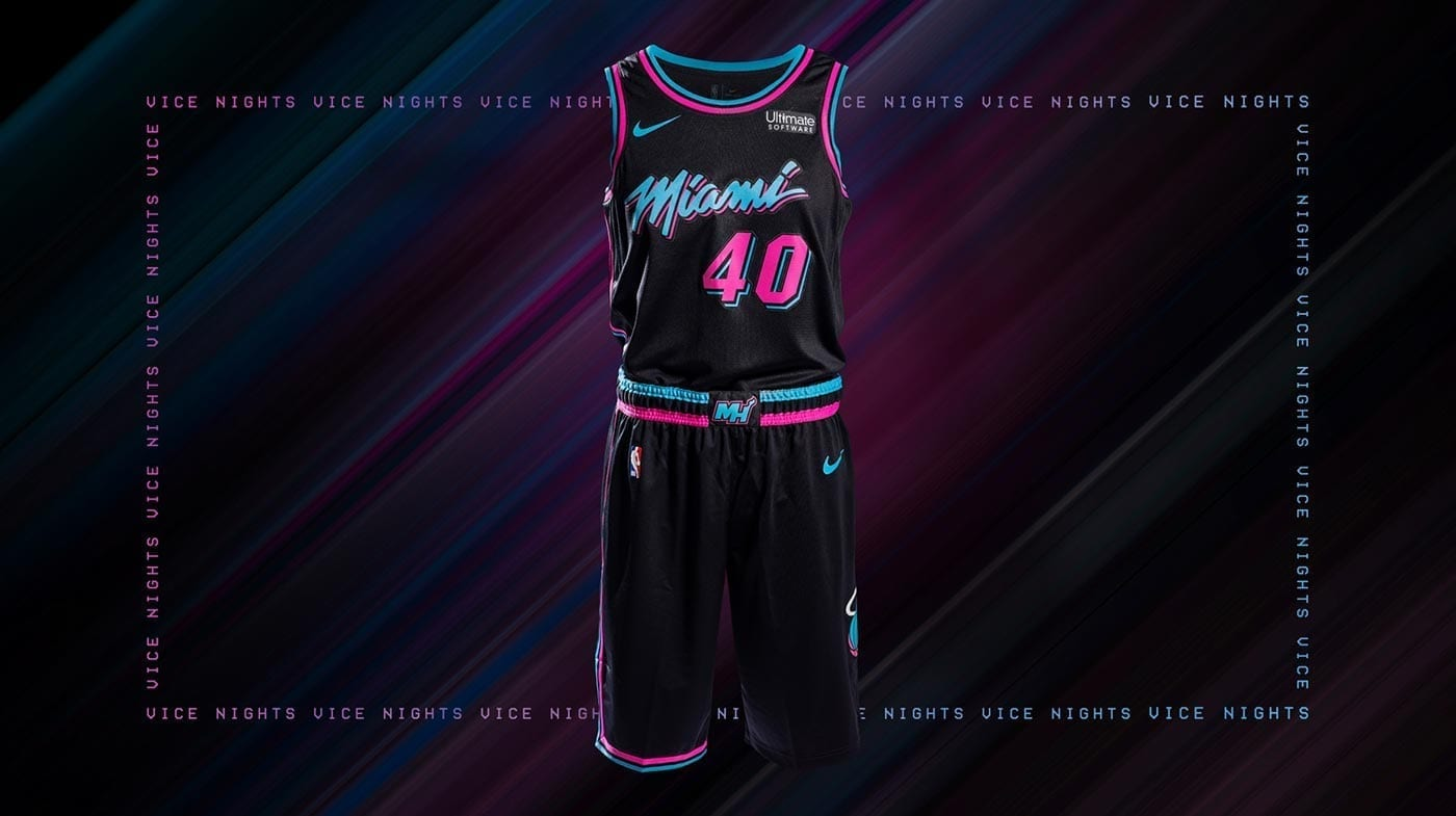 new styles c0285 668ab Miami Heat Reveals Fire New 'Miami Vice' Uniforms