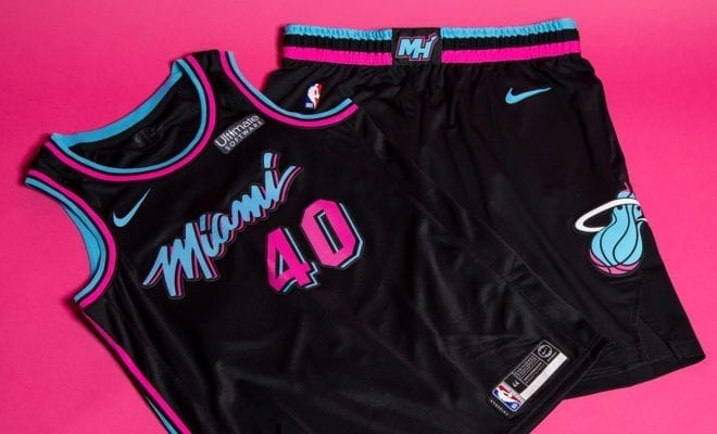new styles c4302 aa801 Miami Heat Reveals Fire New 'Miami Vice' Uniforms